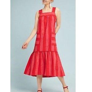 Anthropologie Maeve tonal striped dress